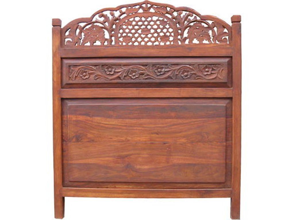 Cabecero palisandro tallado 90 cm campoloco muebles y for Palisandro muebles