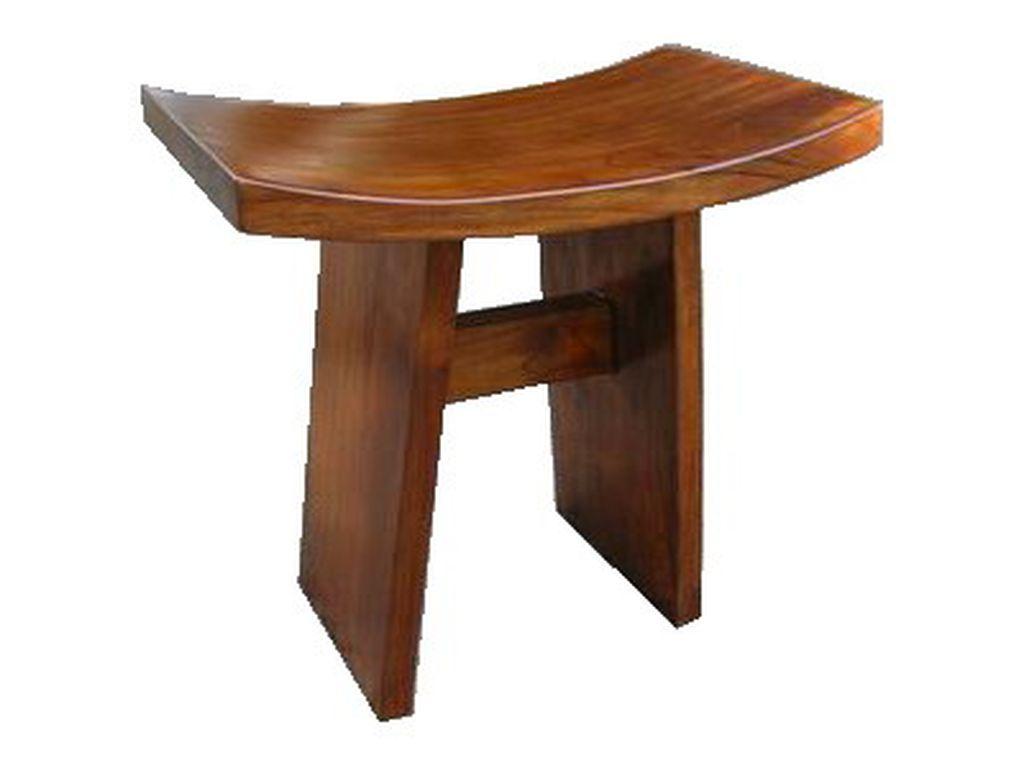 Banqueta de teca japonesa campoloco muebles y decoraci n for Banquetas de madera