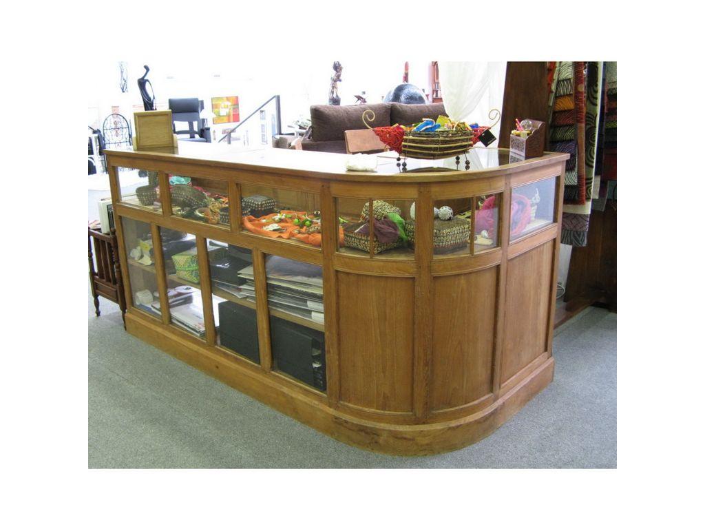 Mostrador de teca en esquina campoloco muebles y decoraci n for Muebles de teca interior