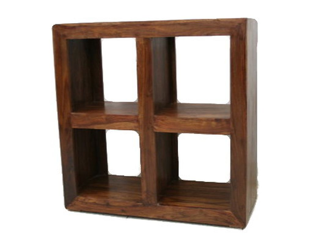 Libreria de palisandro 4 h cubos campoloco muebles y for Palisandro muebles