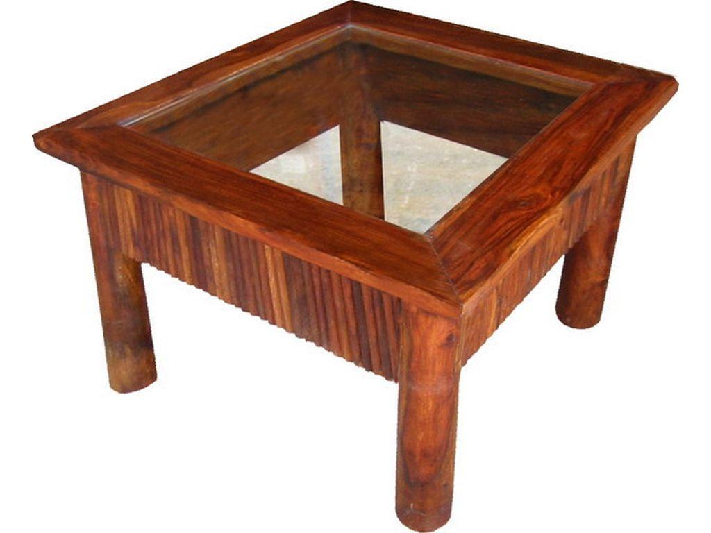 Mesa de cafe de palisandro con cristal campoloco muebles for Palisandro muebles