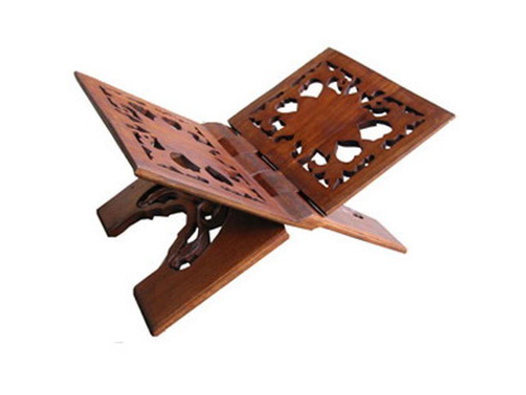 Atril de madera tallado 30 x 48 campoloco muebles y decoraci n - Muebles atril ...