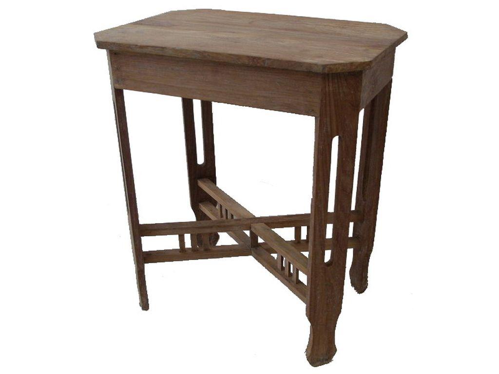 Mesita de teca antigua campoloco muebles y decoraci n - Mesas auxiliares antiguas ...