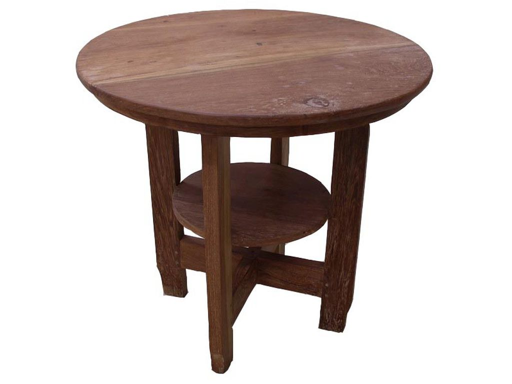 Mesa de teca antigua campoloco muebles y decoraci n - Mesas auxiliares antiguas ...