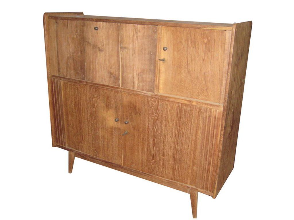 Aparador de teca antiguo 4 p campoloco muebles y decoraci n for Muebles de teca interior