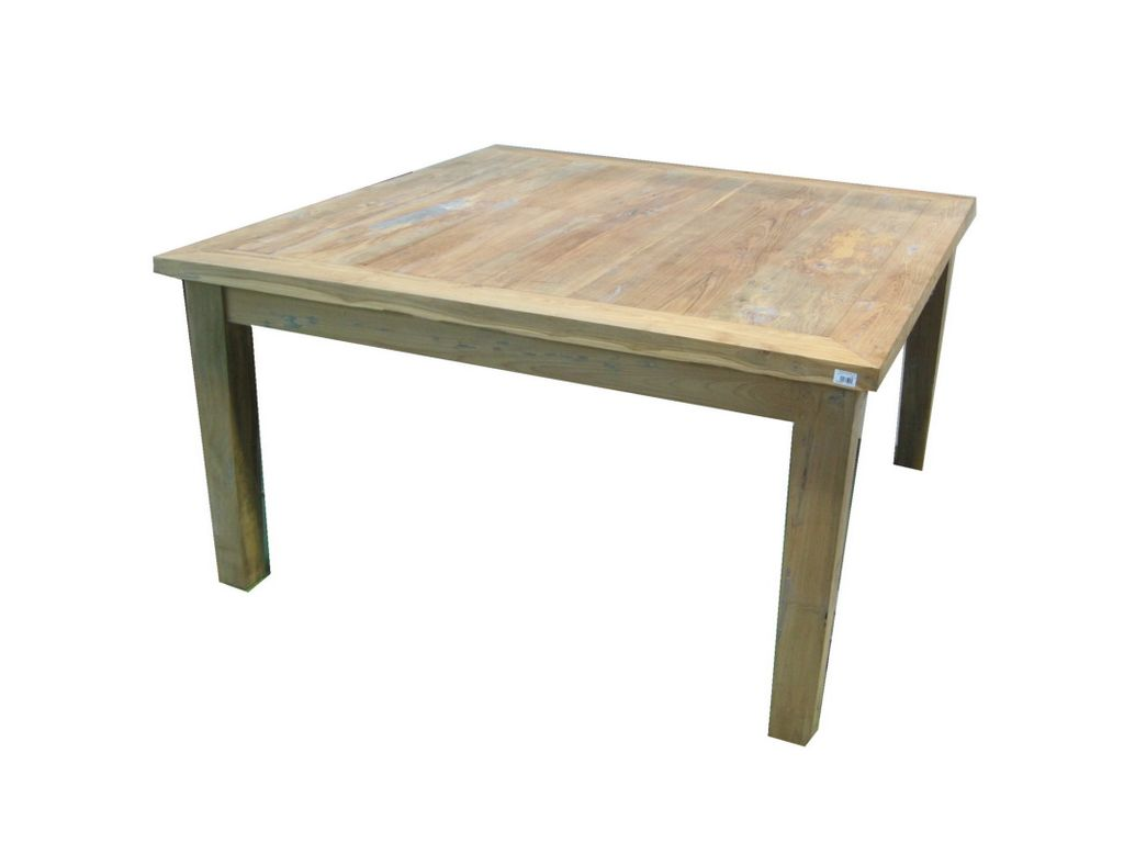 Mesa de comedor teca vieja 120 mod kuno campoloco - Mesa de teca ...