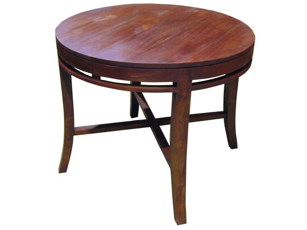 Mesa de teca redonda mod jepang campoloco muebles y - Mesa de teca ...