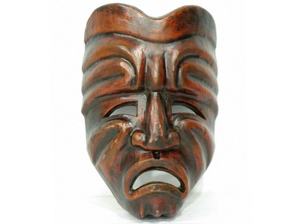 Mascara de madera tribal campoloco muebles y decoraci n - Trobal muebles ...