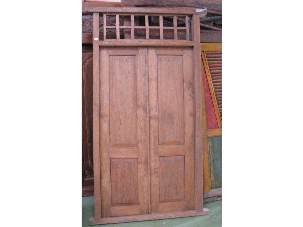 Puerta de teca antigua campoloco muebles y decoraci n for Mesas de puertas antiguas