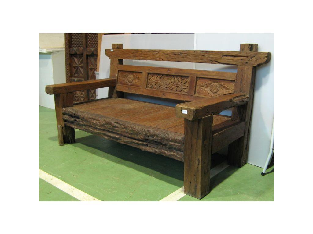 Banco antiguo de teca campoloco muebles y decoraci n for Muebles de teca interior