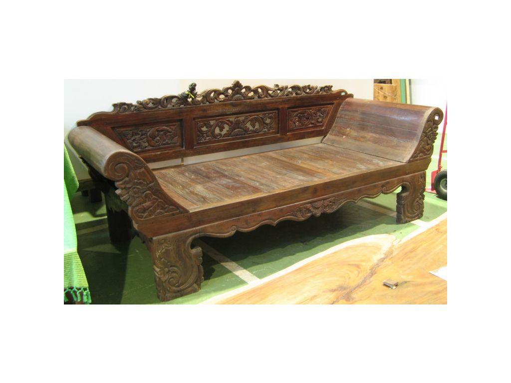 Banco antiguo de madera de teca campoloco muebles y for Bancos zapateros de madera