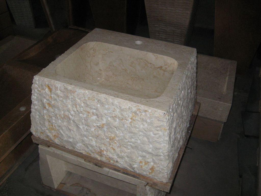 Lavabo de piedra pulido campoloco muebles y decoraci n - Muebles de piedra ...