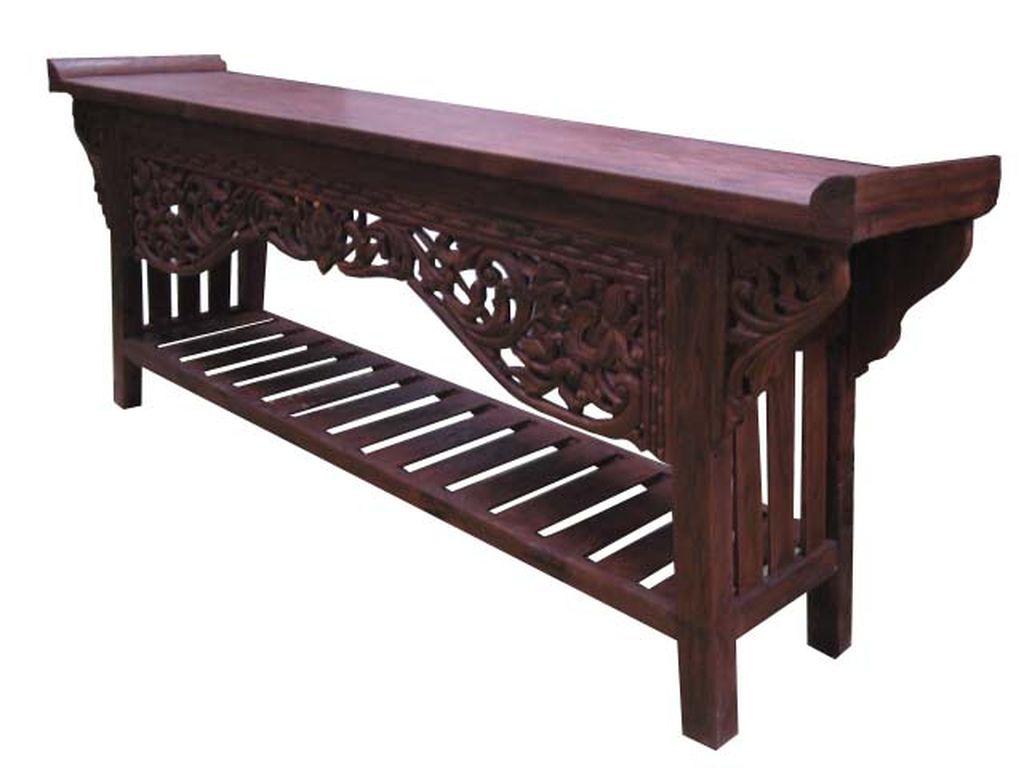 Consola tallada antiguo campoloco muebles y decoraci n for Consolas antiguas muebles