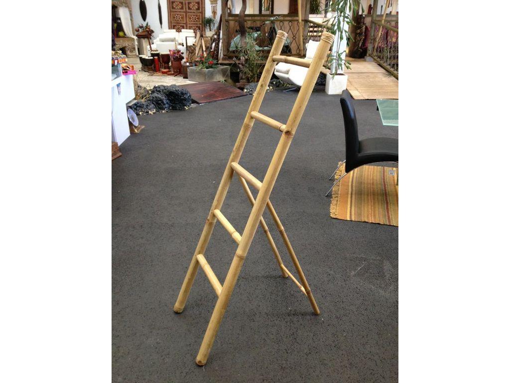 Toallero escalera bambu campoloco muebles y decoraci n - Escaleras de bambu ...