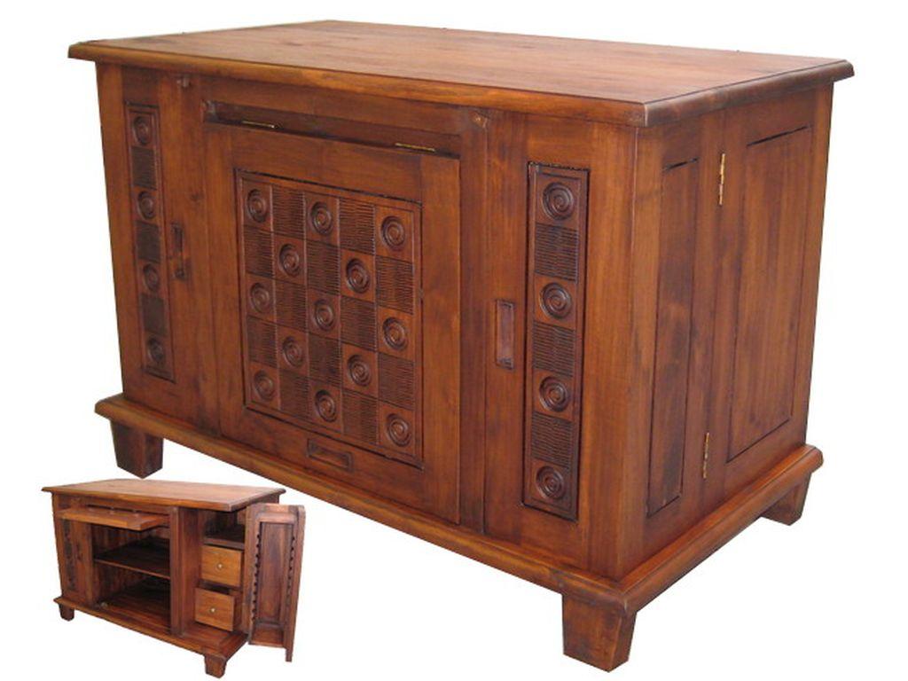 Aparador teca para cd campoloco muebles y decoraci n - Muebles para cd ...