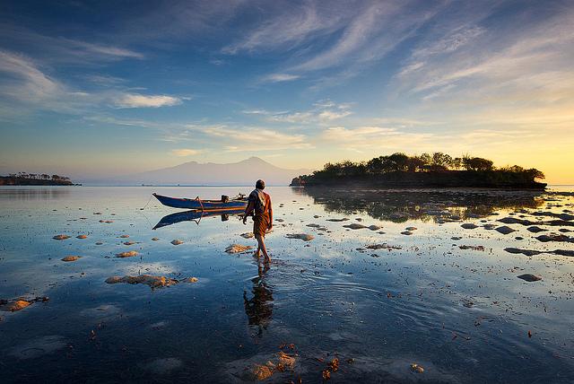 Pescador en Lombok