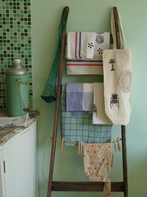 escalera toallero varios