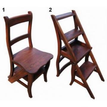 Silla escalera plegable de caoba campoloco muebles y for Muebles de caoba antiguos