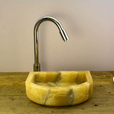 lavabo de piedra onix pequeño