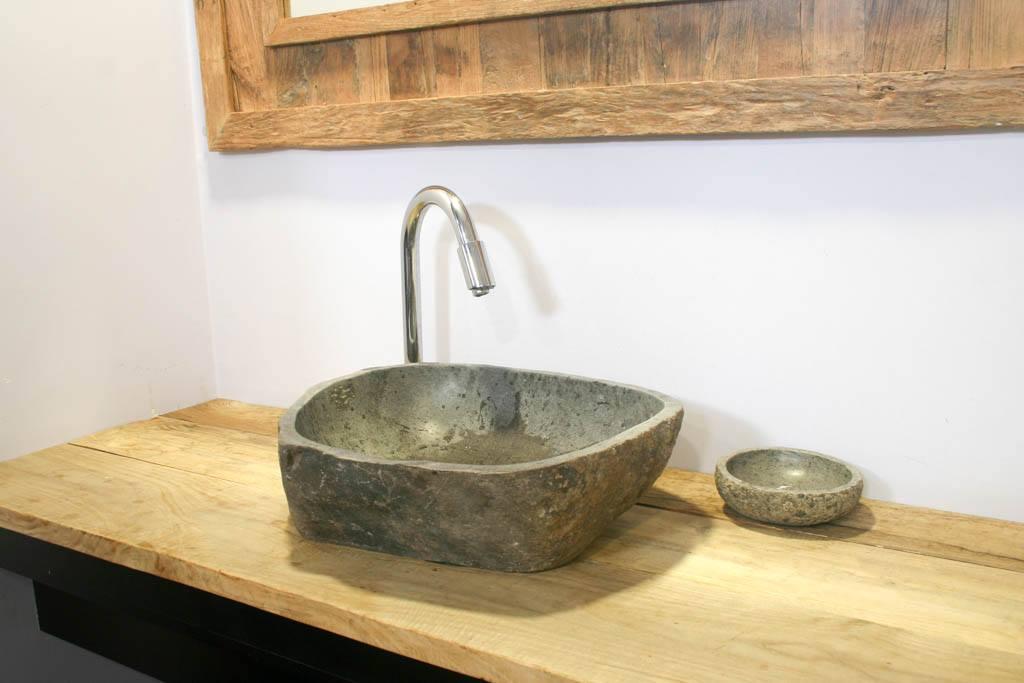 Lavabos de piedra natural campoloco muebles y - Muebles de lavabo rusticos ...
