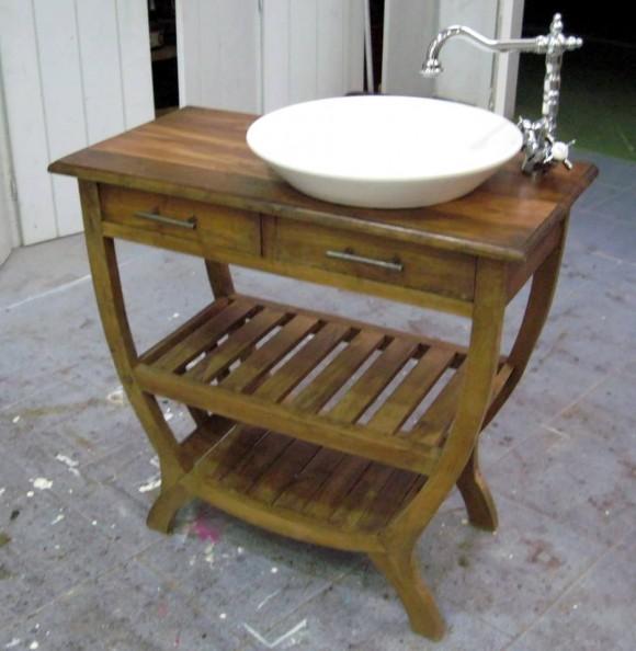 Lavabos de piedra natural campoloco muebles y - Mueble lavabo pequeno ...