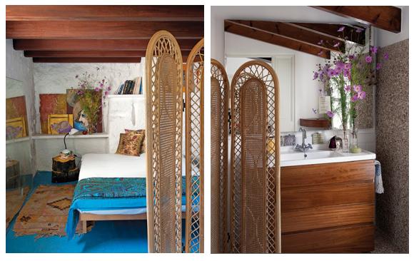 Dormitorio Hippie ~ Decoración hippie chic en casa de u00darsula Mascaró Campoloco Muebles y DecoraciónCampoloco