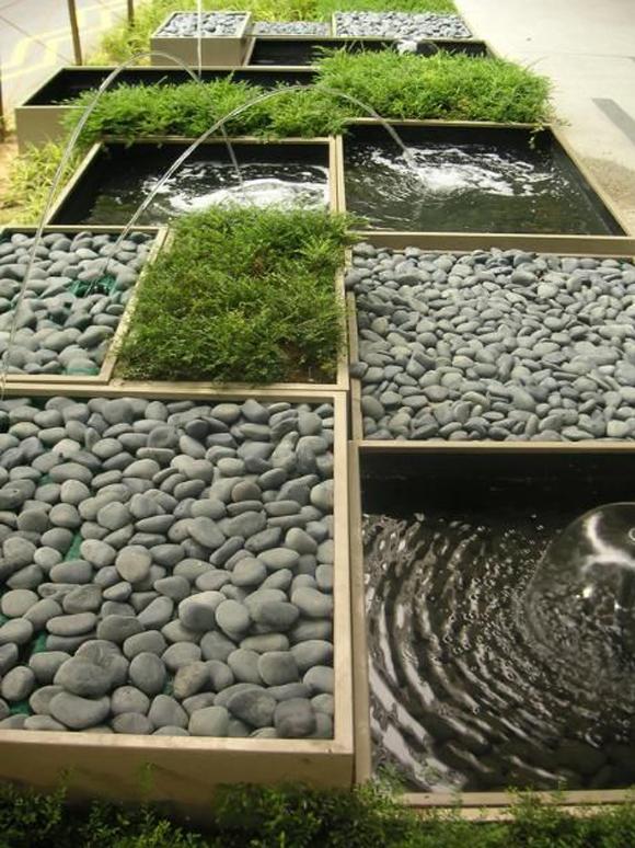 Fuentes de piedra campoloco muebles y - Jardin fuente de piedra ...