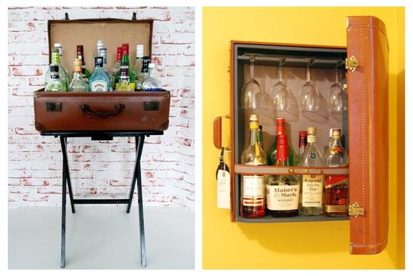 Decoraci n vintage maletas antiguas campoloco muebles y for Muebles con cosas recicladas