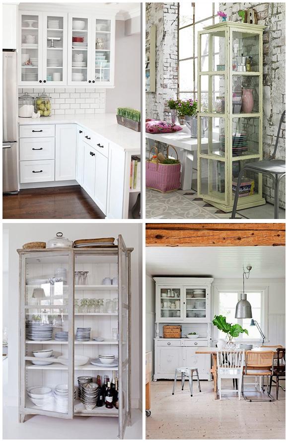 Decora con vitrinas y vitrinas antiguas campoloco for Aparadores para cocina