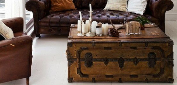 Baúles antiguos para decorar tu casa